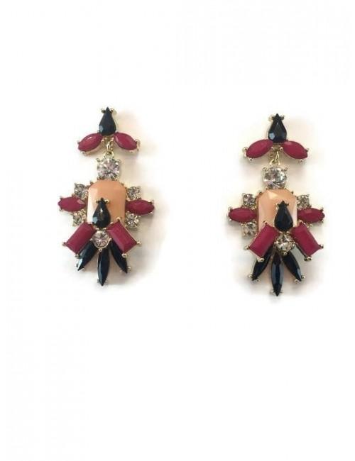 Cercei colorati cu pietre colorate Rose