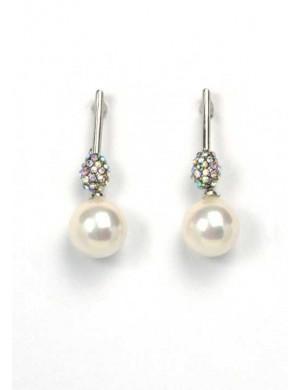 Cercei perla argintii Beauty