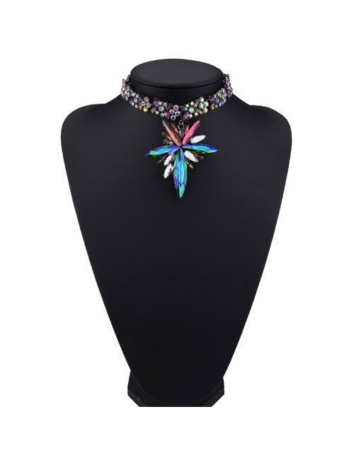 Choker cristale colorate Rainbow