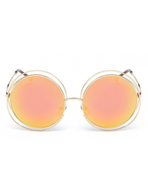Ochelari de soare rosii Round