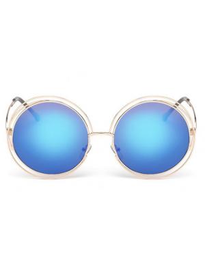 Ochelari de soare albastri Round