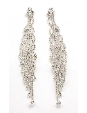 Cercei lungi argintii Brill