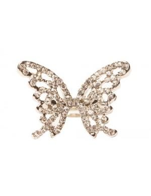Inel argintiu pietre Butterfly