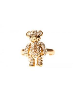 Inel auriu pietre Teddy Bear