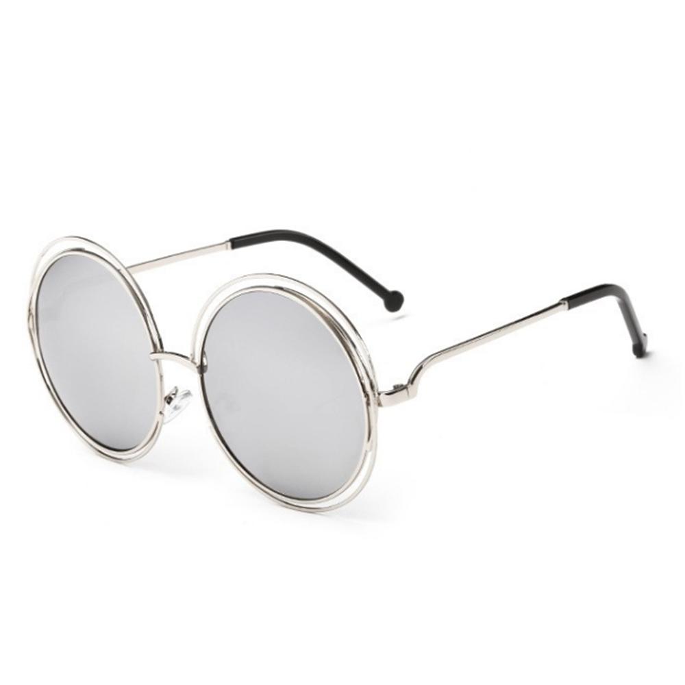ochelari de soare arginti round